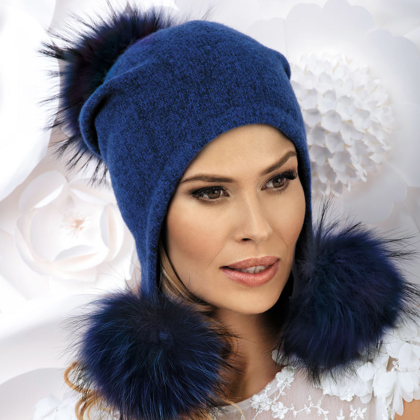 betula pom pom winter hat